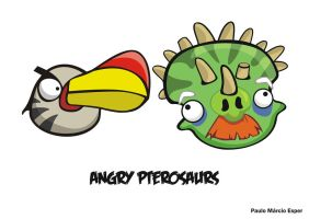 Angry pterosaurs by pauloomarcio