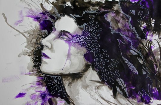 She Weeps Violet by rookscry