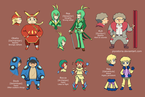 Pokemon Gijinka: Team Pi by piyostoria