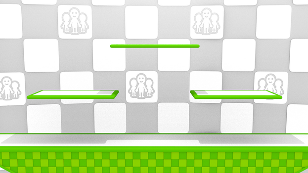 Super Smash Bros WiiU / Miiverse Stage by Triforceguard