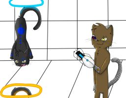 :OC Sharp and Cyro:  :.Stop.: by IronMeow