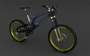 Downhill Mountain Bike WIP by motionmedia