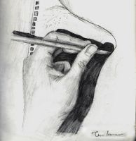Hand Sketch by Rakashaka