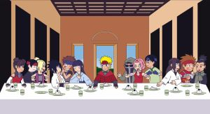 The Last Supper at Konoha by m2cool