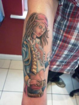 pirate girl tattoo by LianjMc