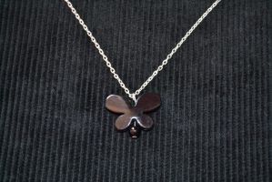 Black Butterfly Silhouette Necklace by xMasqueradeAngelx