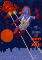TLIID Superhero-rockstar mashups Bowie as Starman by Nick-Perks