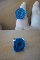 Blue Geode Ring by SunshineEmily
