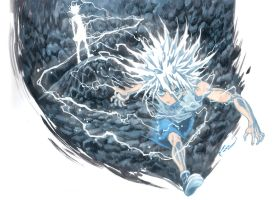 Killua - God Speed by Nick-Ian