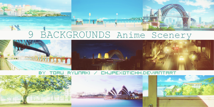 9 BACKGROUNDS Anime Scenery #1 by ChjpEXOTICHH