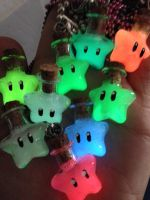Glowing Star Potion Necklaces in the dark by IvrinielsArtNCosplay