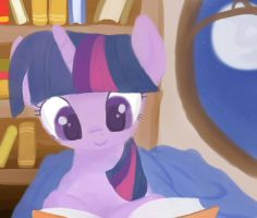 Nightime Reading by InkieHeart