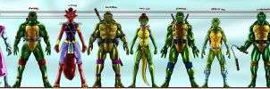 TMNT team my version by joshdancato
