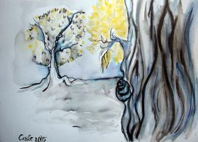 two tree forest by pokadotspider