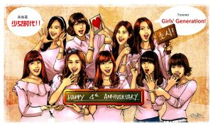 SNSD-4th Anniversary by KoweRallen