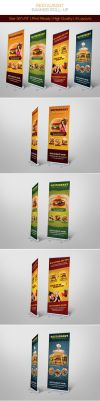 Restaurant Banner Roll-up by hoanggiang12