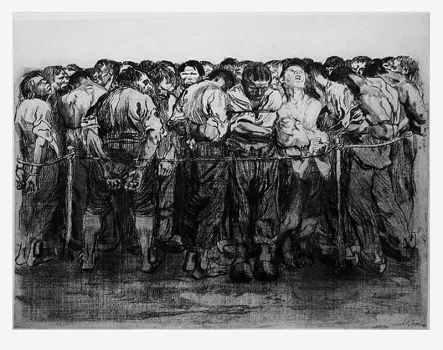 'The Prisoners' etching, 1908 by tanzafari