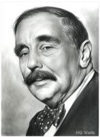 HG Wells by gregchapin
