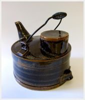 Blue Oil Can Teapot by CreativelyStrange