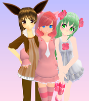MMD - PokeTrio by lexxxyy