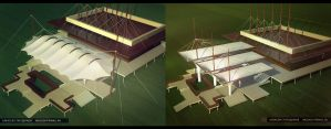 The awning for the club Tack by Alexey-Starodumov
