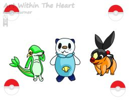 Pokemon Black And White - Unova Starters by Faith-Bailey