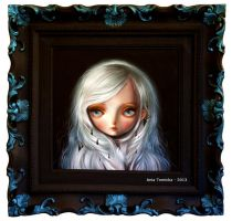 Simple painting with a cool frame by ponyania
