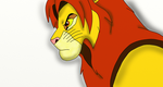 Mad Simba_First pic with Tablet by SolitaryGrayWolf