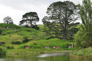 Hobbiton in Shire by iRISSIEL