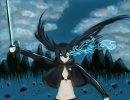 Black Rock Shooter-.- by moetaiga