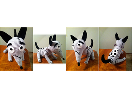 Frankenweenie Sparky Crochet Plush Pattern by Ookamichan423