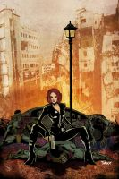 Black Widow - All in a Days Work (colored) by daxxbondoc