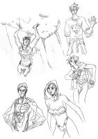 Superman and Wonder Woman by PlanetDann