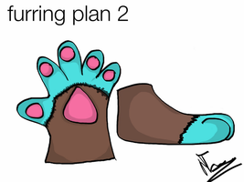 hand and feetpaws furring plan by IndiTheWolfy