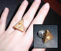 Legend of Zelda-Inspired Triforce Ring by UniqueTreats