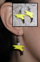 Pokemon-Inspired Raichu Tail Earrings by UniqueTreats