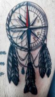Compass/Clock/Dreamcatcher by INK-SL1NG3R