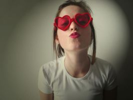 heart-shaped glasses by shanaandressa
