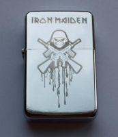 IRON MAIDEN - engraved lighter by Piciuu