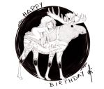 -Happy Birthday Moosekleenex by hypheen