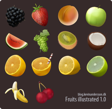 Fruits Illustrated by kevinandersson