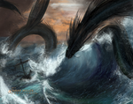 Sea Serpent by SarahMillerCreations