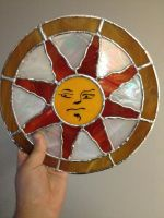 Dark Souls - Sunlight Shield Stained Glass by jfg2597