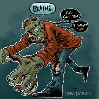 Zombies Like Brains by thegreck