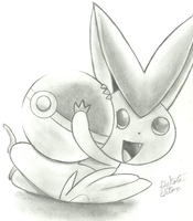 victini adorable new pokemon by sloth667