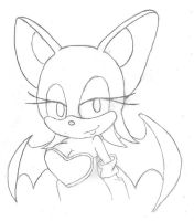 Line-art 001: Rouge the Bat by Astral-Blaze