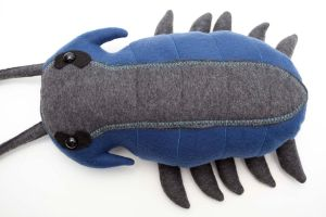 Trilobite plush in blue gray by Paleogirl