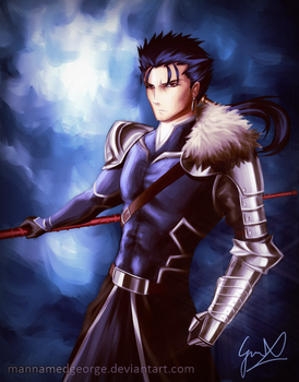 Fate Stay Night - Lancer (Redesigned) by CaptainBombastic