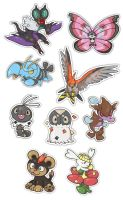 Gen 6 Stickers 2 by hajimikimo