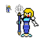 8-Bit Helmetless Defenderverse Splash Woman by lalalei2001